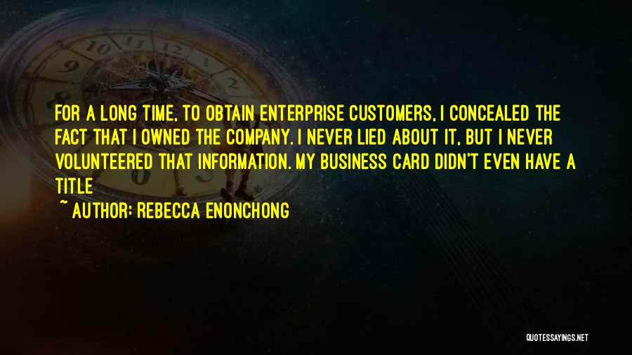 Rebecca Enonchong Quotes 1222819