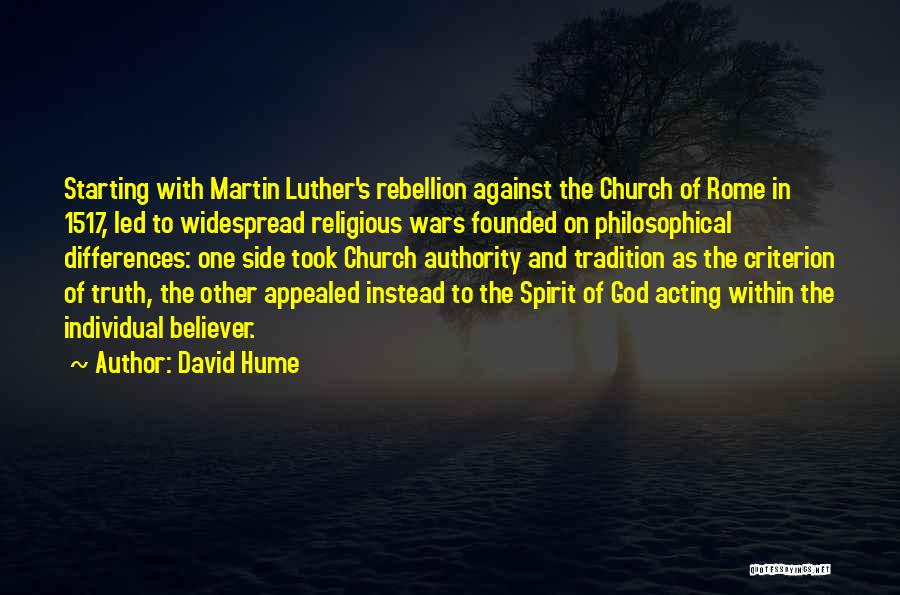 Rebellion Against God Quotes By David Hume
