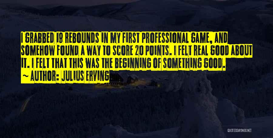 Rebounds Quotes By Julius Erving