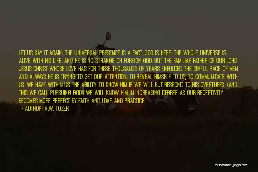 Receptivity Quotes By A.W. Tozer