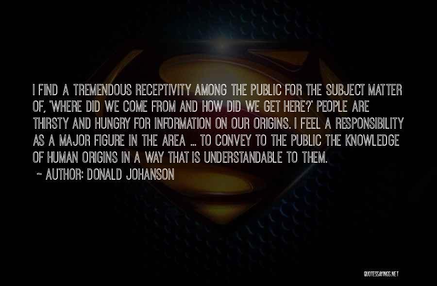Receptivity Quotes By Donald Johanson