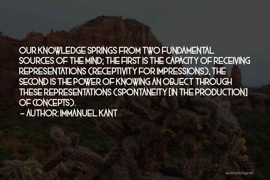 Receptivity Quotes By Immanuel Kant