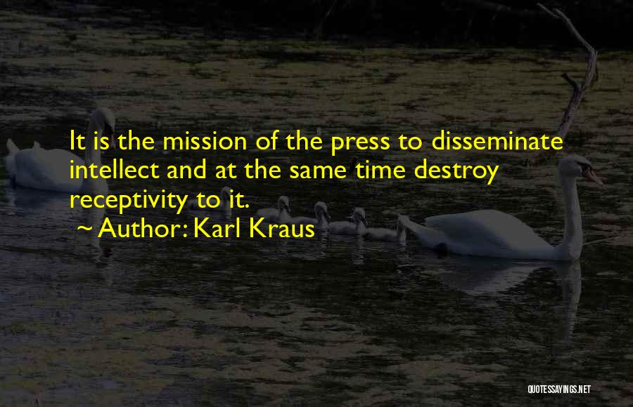 Receptivity Quotes By Karl Kraus