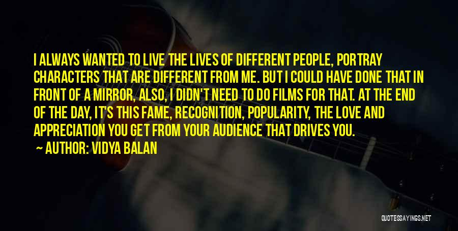 Recognition Day Quotes By Vidya Balan