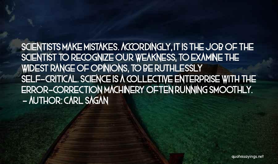 Recognize Mistakes Quotes By Carl Sagan