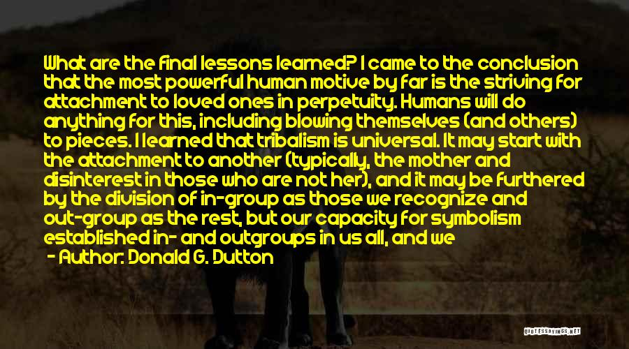 Recognize Mistakes Quotes By Donald G. Dutton