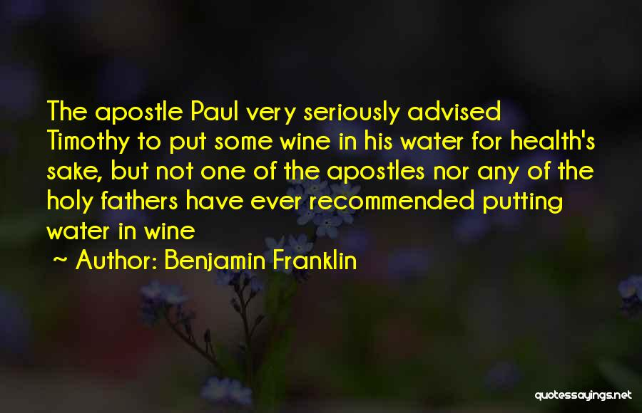 Recommended Quotes By Benjamin Franklin