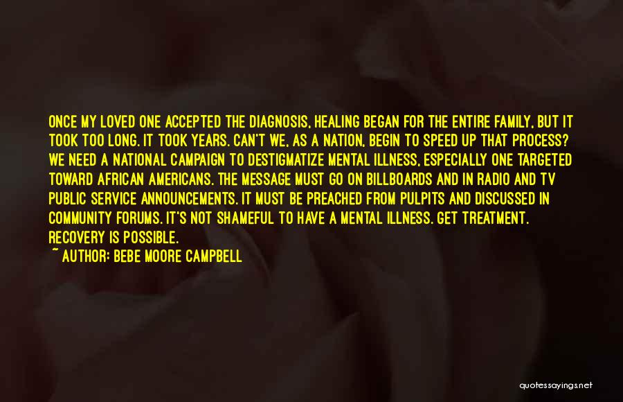 Recovery And Healing Quotes By Bebe Moore Campbell
