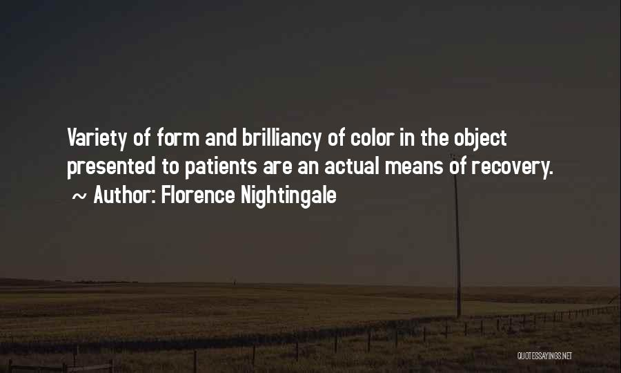 Recovery And Healing Quotes By Florence Nightingale