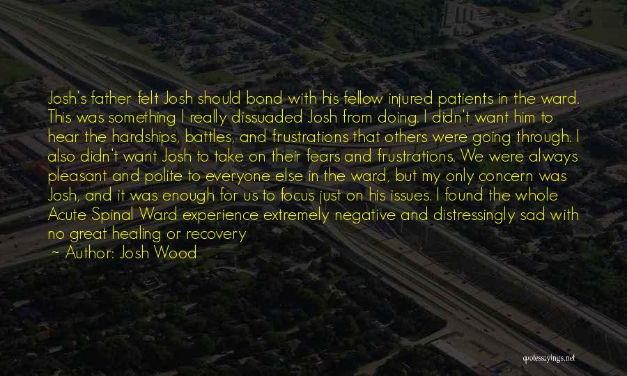 Recovery And Healing Quotes By Josh Wood