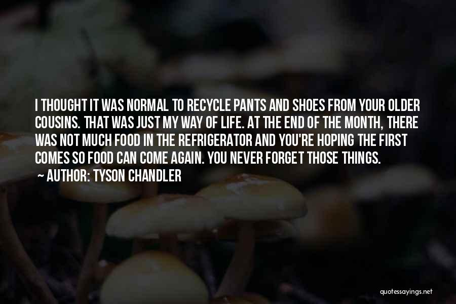 Recycle Life Quotes By Tyson Chandler