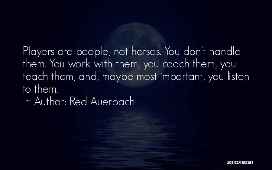 Red Auerbach Quotes 144968