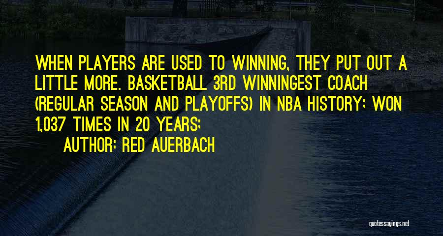 Red Auerbach Quotes 1721467