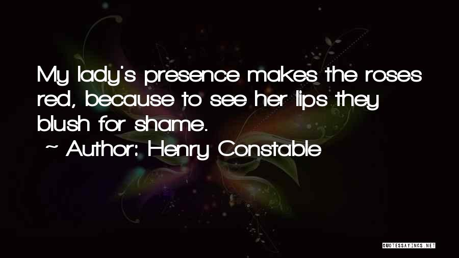 Red Lips Quotes By Henry Constable