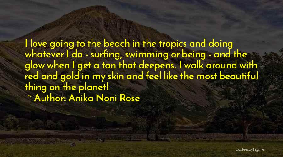 Red Rose With Quotes By Anika Noni Rose
