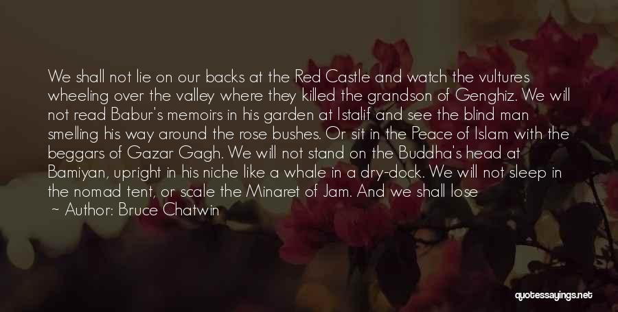 Red Rose With Quotes By Bruce Chatwin