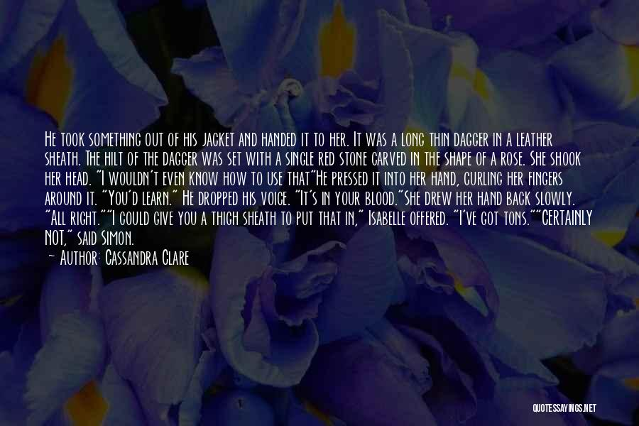 Red Rose With Quotes By Cassandra Clare