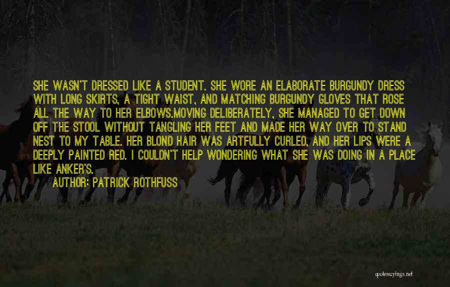 Red Rose With Quotes By Patrick Rothfuss