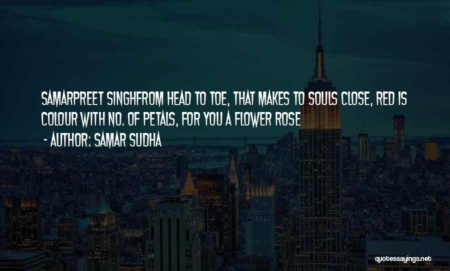 Red Rose With Quotes By Samar Sudha