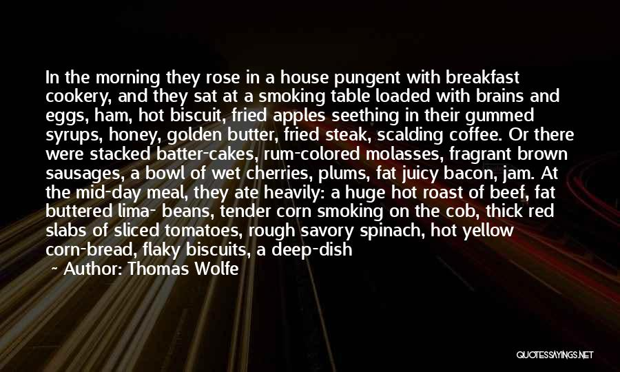 Red Rose With Quotes By Thomas Wolfe