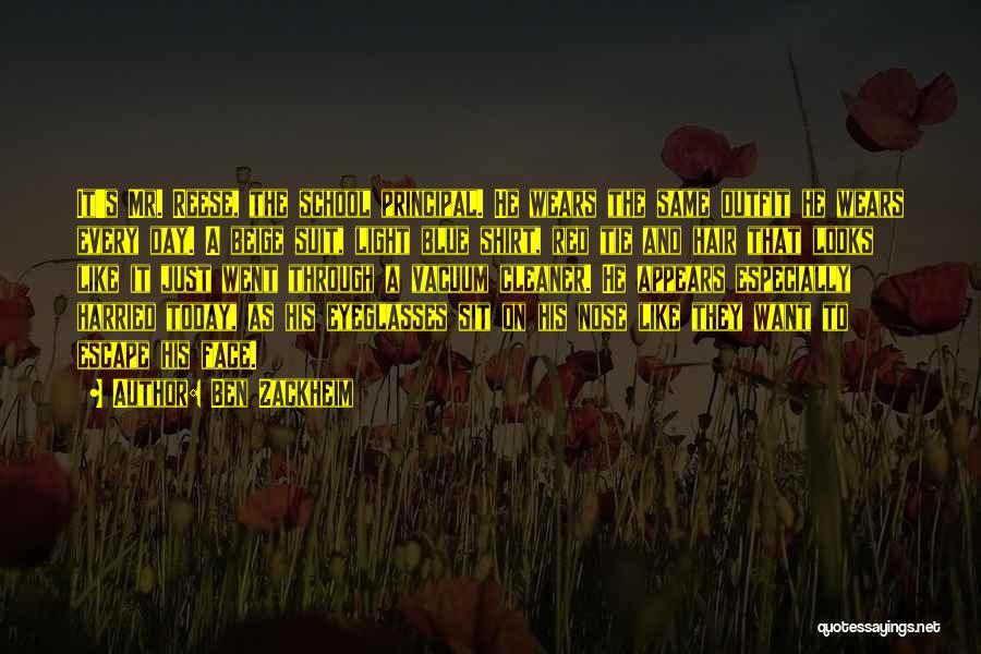 Red Tie Quotes By Ben Zackheim
