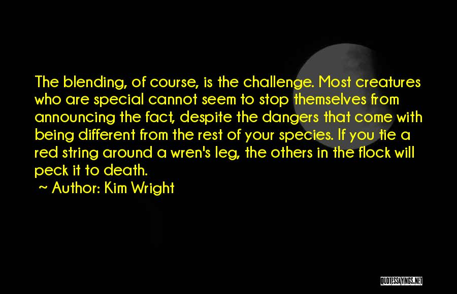 Red Tie Quotes By Kim Wright