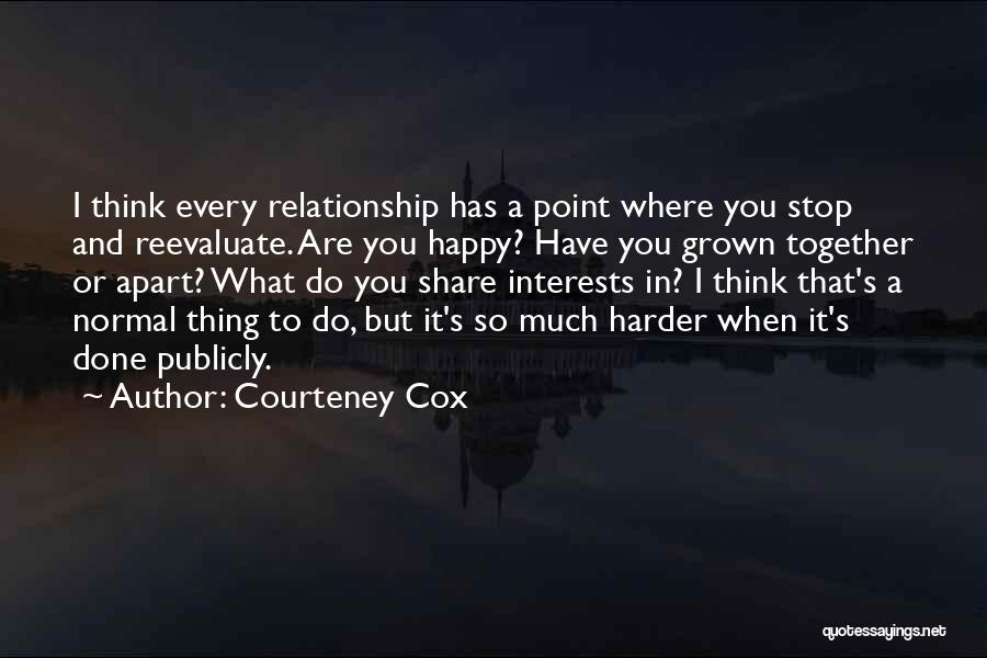 Reevaluate Relationship Quotes By Courteney Cox