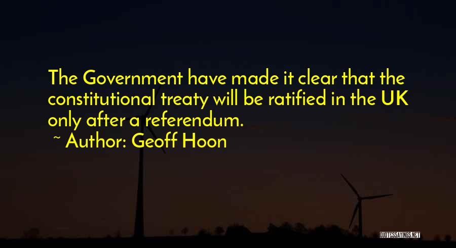 Referendums Quotes By Geoff Hoon