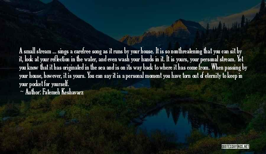 Reflection Of Yourself Quotes By Fatemeh Keshavarz