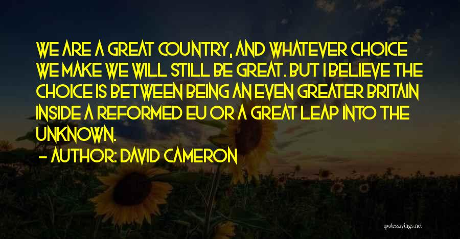Reformed Quotes By David Cameron