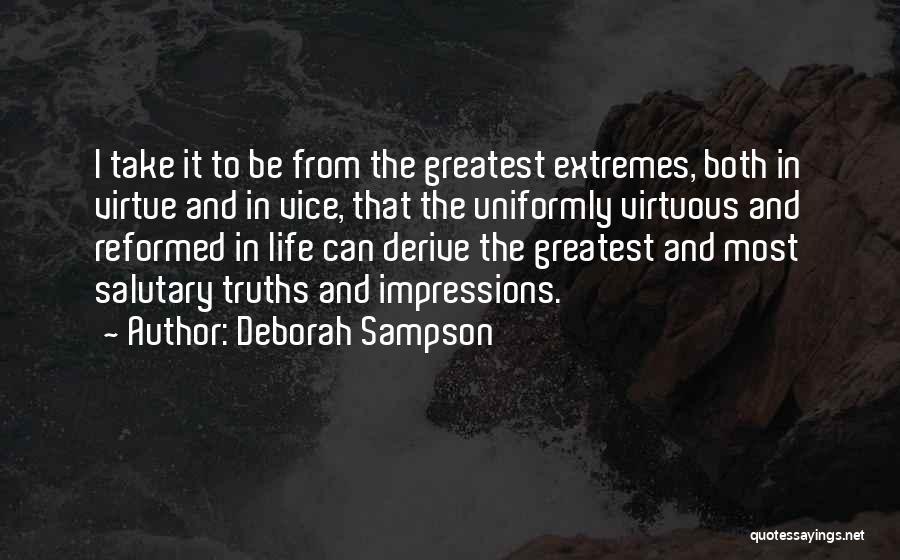 Reformed Quotes By Deborah Sampson