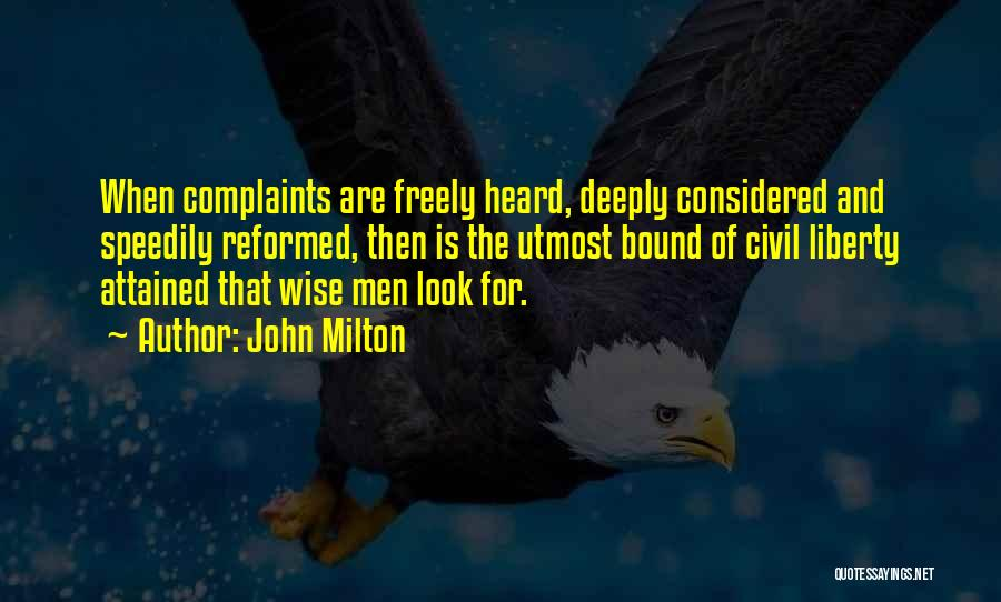 Reformed Quotes By John Milton