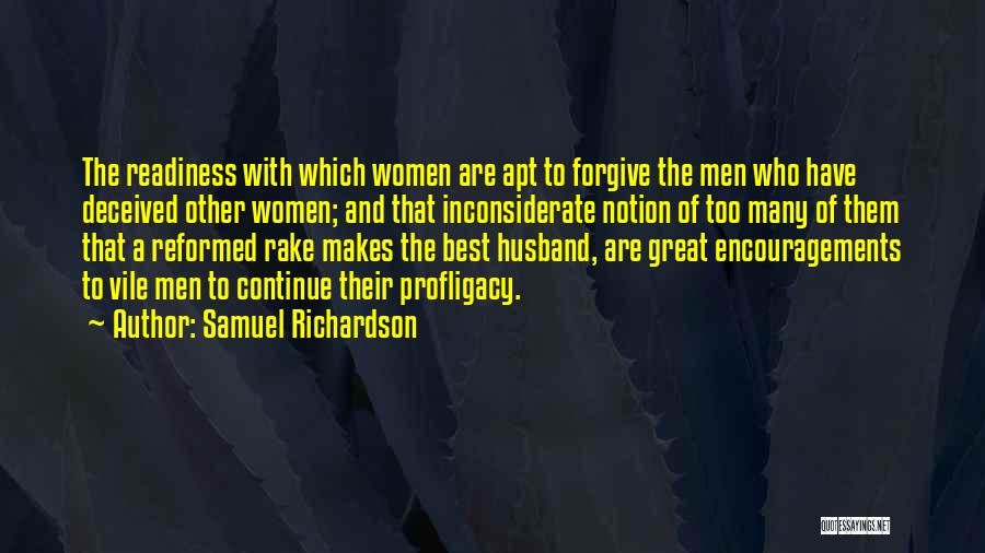 Reformed Quotes By Samuel Richardson