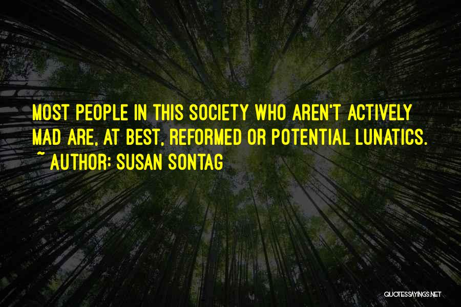 Reformed Quotes By Susan Sontag