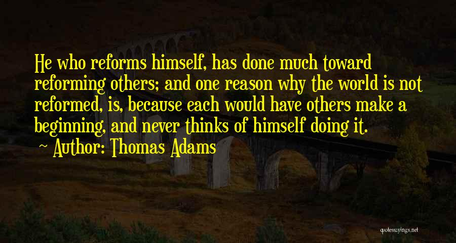 Reformed Quotes By Thomas Adams