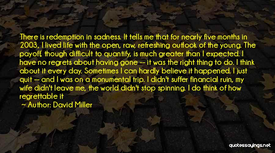 Refreshing My Life Quotes By David Miller
