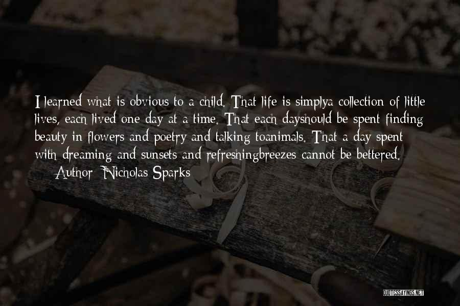 Refreshing My Life Quotes By Nicholas Sparks