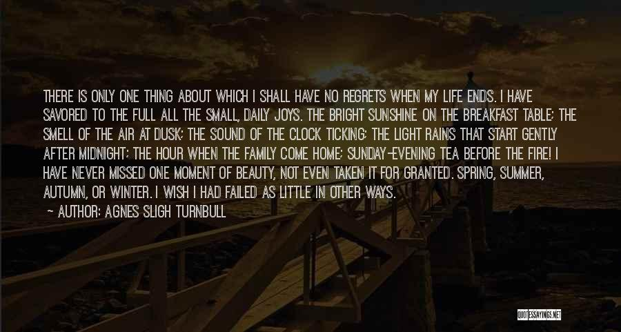Regrets In Life Quotes By Agnes Sligh Turnbull