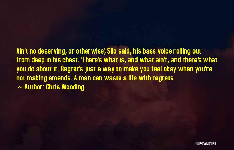 Regrets In Life Quotes By Chris Wooding