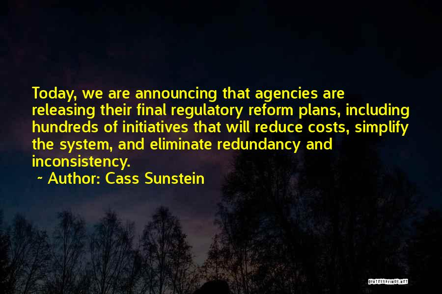 Regulatory Quotes By Cass Sunstein