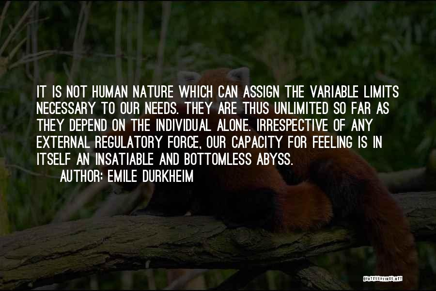 Regulatory Quotes By Emile Durkheim