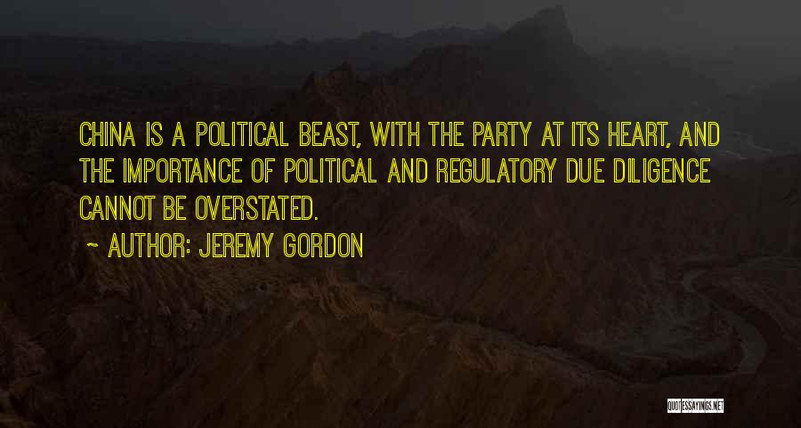 Regulatory Quotes By Jeremy Gordon