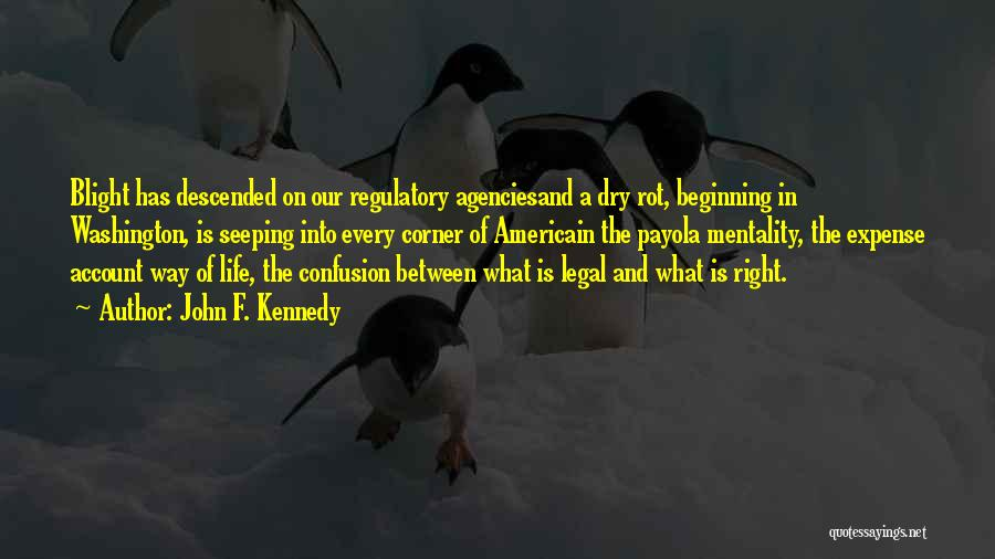 Regulatory Quotes By John F. Kennedy