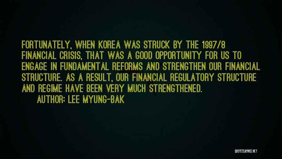 Regulatory Quotes By Lee Myung-bak
