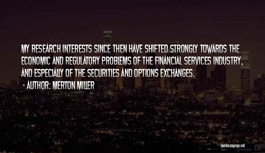 Regulatory Quotes By Merton Miller
