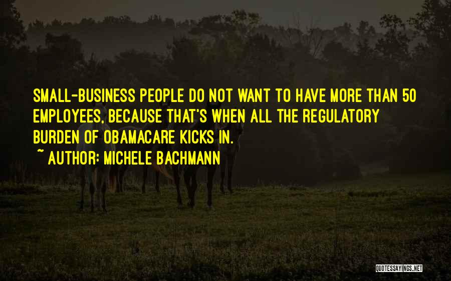 Regulatory Quotes By Michele Bachmann
