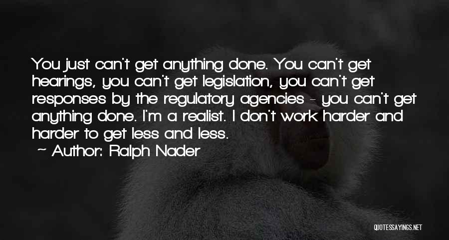 Regulatory Quotes By Ralph Nader