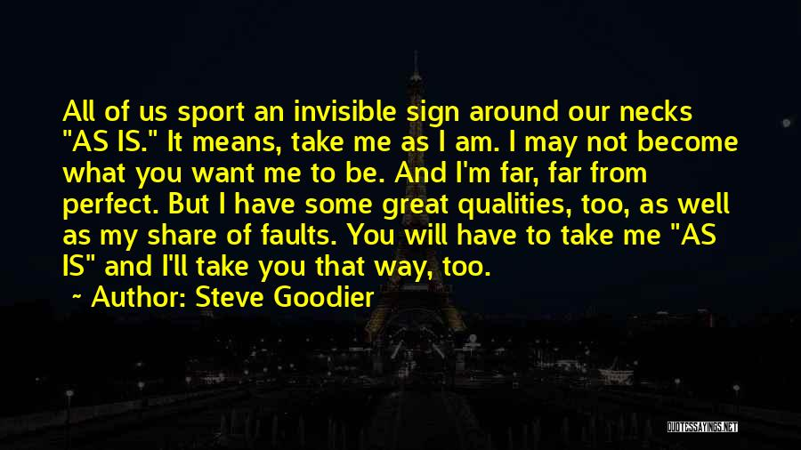 Relationship Flaws Quotes By Steve Goodier