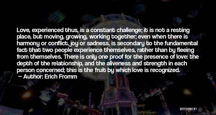 Relationship Strength Quotes By Erich Fromm