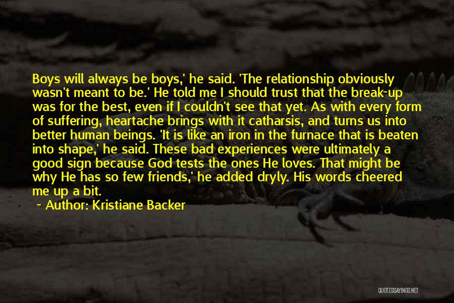 Relationship Without Trust Like Quotes By Kristiane Backer